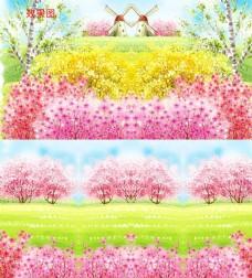 特效春暖花开插画视频