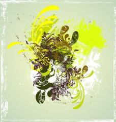 抽象欧美花纹背景