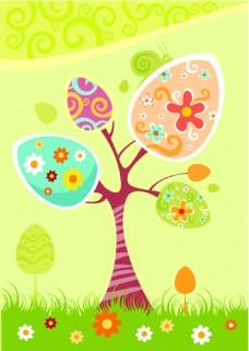 花纹素材树木背景设计