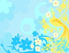 鸟儿花卉素材背景