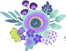 卡通花朵矢量素材