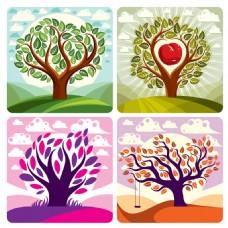 卡通苹果树漫画图片3