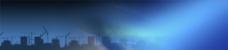 城市里的蓝色背景banner素材