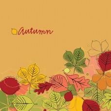 树叶花纹素材背景设计