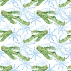 水彩雪花背景图片
