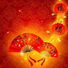 新春红色福字背景