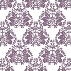 紫色花纹白色背景图案矢量设计素材