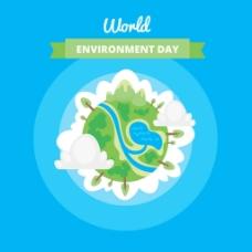 世界环境日创意地球设计背景