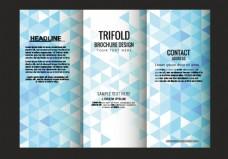 蓝色多边形折页设计