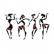 跳舞的非洲女人图片