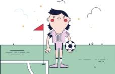 卡通运动儿童插画