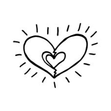 发光的卡通手绘爱心花朵嘴唇透明素材