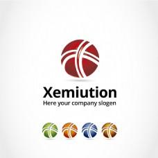 抽象图球状标志logo设计