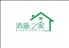 清新之家净化器logo矢量清新绿色