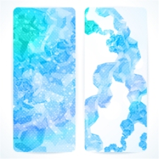 蓝色抽象垂直横幅模板矢量素材下载