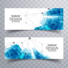 科技的抽象装饰元素banner广告背景