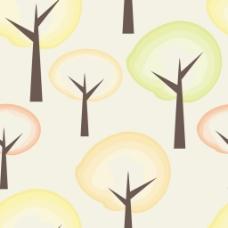 清新秋季树木背景