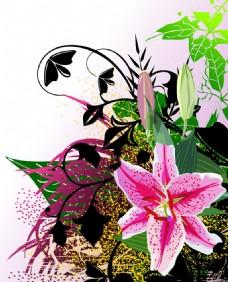 矢量花卉素材背景