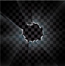 玻璃破碎效果背景矢量素材下载