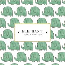 卡通小象背景