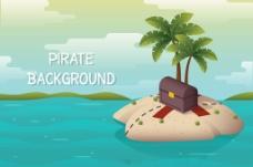 神奇的宝藏小岛背景