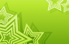 绿色清新星形背景