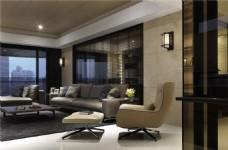 现代中式简约客厅装修效果图