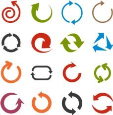 圆形箭头图标矢量素材