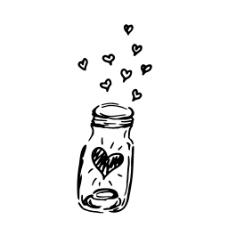 手绘瓶子卡通手绘植物psd素材文件