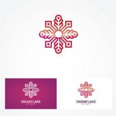 雪花标志logo设计矢量素材