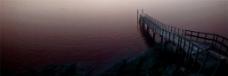 暮色桥梁背景图
