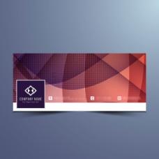 抽象现代几何图案facebook横幅设计