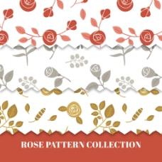 漂亮玫瑰装饰图案