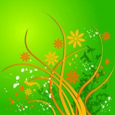 矢量花卉花纹素材背景设计