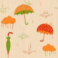 矢量雨伞元素设计素材