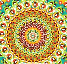 抽象繁复圆形花纹设计矢量素材