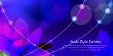 紫色光斑元素背景设计