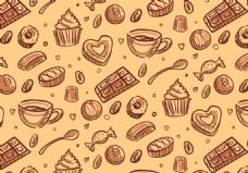 巧克力糖果背景素材