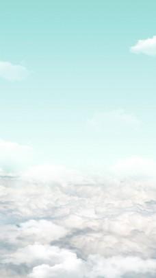 淡蓝天空素雅背景