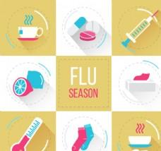 流感季节元素