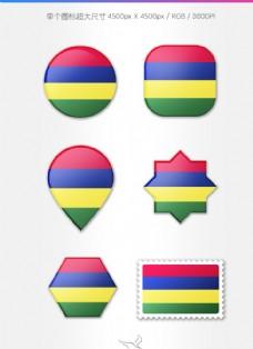 毛里求斯国旗图标