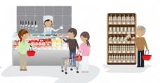 矢量超市收银台EPS