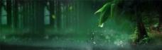 绿色梦幻森林背景图