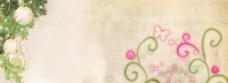 小清新漂亮鲜花背景图