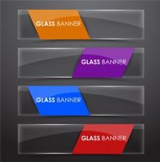 四色透明横幅图片