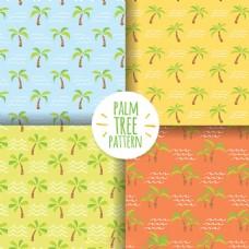 手绘棕榈树图形装饰图案矢量设计素材