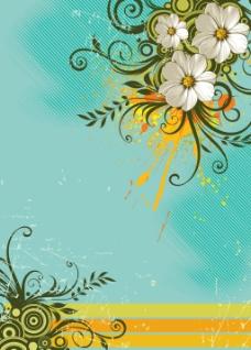 矢量花卉元素设计背景