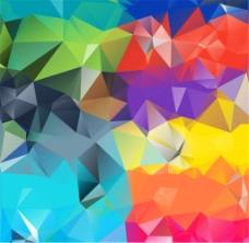 彩色几何切割背景矢量素材下载
