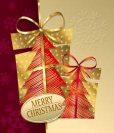 圣诞金色卡片背景