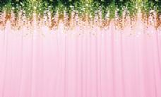 粉色藤蔓背景
